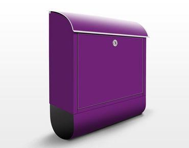 Briefkasten Violet - Colour Purple - Violetter Briefkasten mit Zeitungsfach