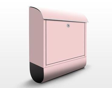 Briefkasten Rosa - Colour Rose - Rosa Briefkasten mit Zeitungsfach