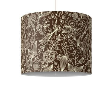 Hängelampe - Art Nouveau Monochrome