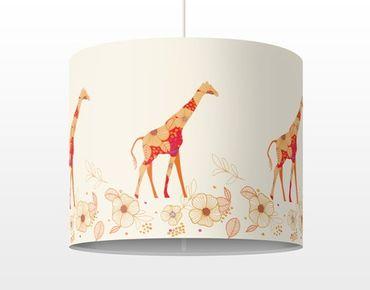 Hängelampe - Floral Giraffe