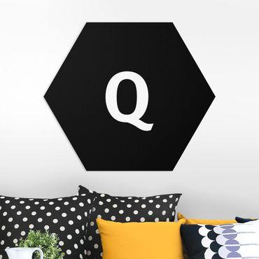 Hexagon Bild Forex - Buchstabe Schwarz Q