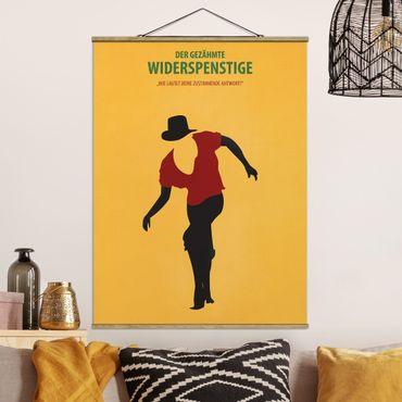 Stoffbild mit Posterleisten - Filmposter Der gezähmte Widerspenstige - Hochformat 4:3