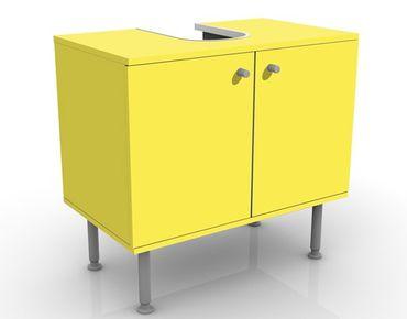 Waschbeckenunterschrank - Colour Lemon Yellow - Badschrank Gelb