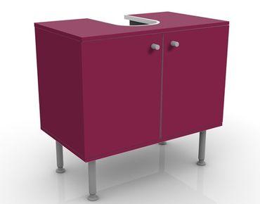 Waschbeckenunterschrank - Colour Wine Red - Badschrank Rot