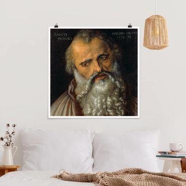Poster - Albrecht Dürer - Der Apostel Philippus - Quadrat 1:1