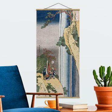 Stoffbild mit Posterleisten - Katsushika Hokusai - Der Dichter Rihaku - Hochformat 2:1