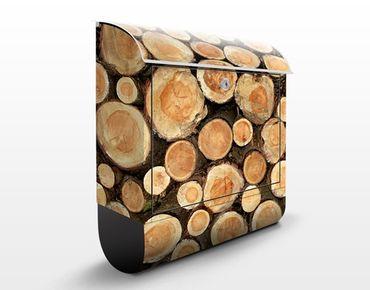 Briefkasten Holz - No.YK18 Baumstämme - Wandbriefkasten
