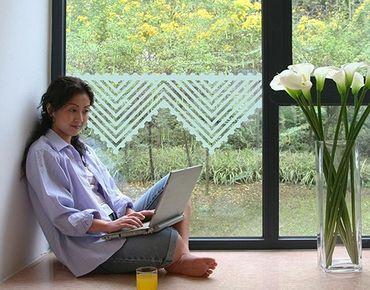 Fensterfolie - Sichtschutzfolie No.UL1060 Gehäkelt I - Milchglasfolie