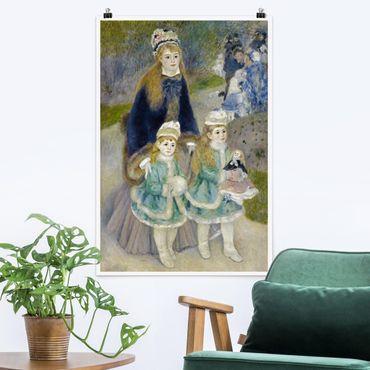Poster - Auguste Renoir - Mutter und Kinder - Hochformat 3:2