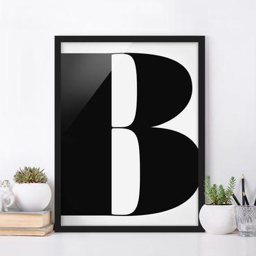 Bild mit Rahmen - Antiqua Letter B - Hochformat 3:4