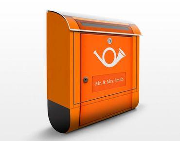Briefkasten mit Wunschtext - Briefkasten in Europa - mit Zeitungsfach