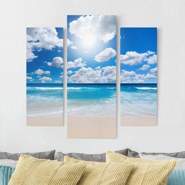 Leinwandbild 3-teilig - Touch of paradise - Galerie Triptychon
