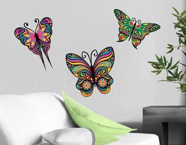 Wandtattoo Schmetterling No.BP23 Mandala Schmetterlinge