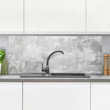 Spritzschutz Glas - Industrie-Look Betonoptik - Panorama - 5:2