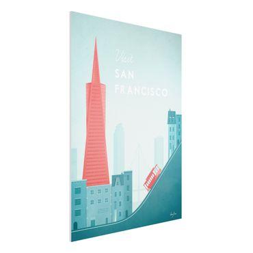 Forex Fine Art Print - Reiseposter - San Francisco - Hochformat 4:3