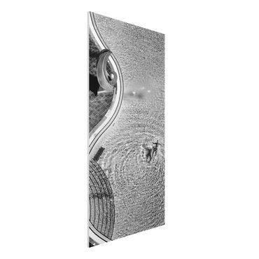 Forex Fine Art Print - Schwimmbad Schwarz-Weiß - Hochformat 2:1