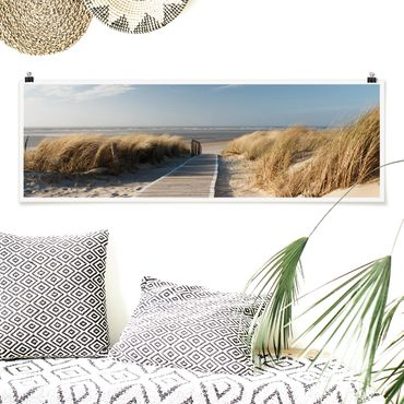 Poster - Ostsee Strand - Panorama Querformat