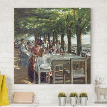 Leinwandbild - Max Liebermann - Terrasse des Restaurants Jacob - Quadrat 1:1