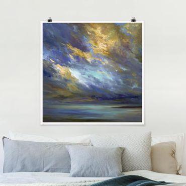 Poster - Himmel über Küste - Quadrat 1:1