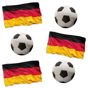 Wandtattoo Fußball - Deutschlandfahne und Ball Sticker Set