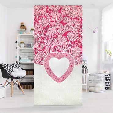 Raumteiler - Heart Pattern 250x120cm