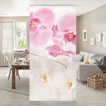 Orchideen Raumteiler - Delicate Orchids - Orchideen Bild 250x120cm