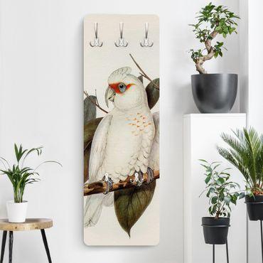 Garderobe - Vintage Illustration Weißer Kakadu