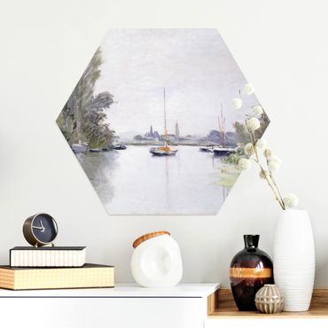 Hexagon Bild Alu-Dibond - Claude Monet - Argenteuil
