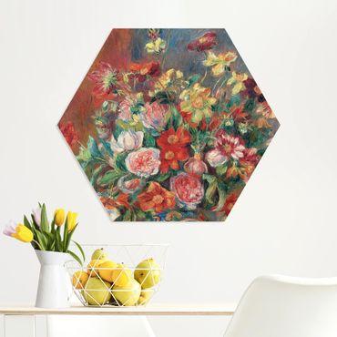 Hexagon Bild Forex - Auguste Renoir - Blumenvase