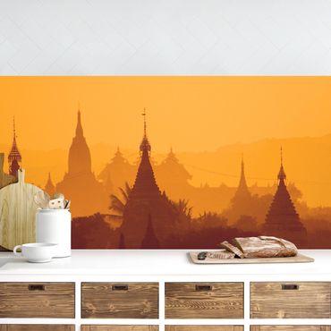 Küchenrückwand - Tempelstadt in Myanmar