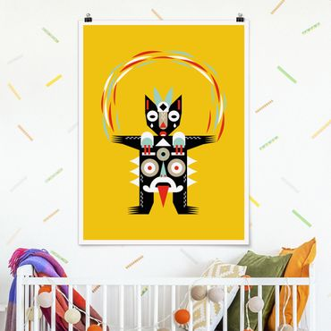 Poster - Collage Ethno Monster - Jongleur - Hochformat 4:3