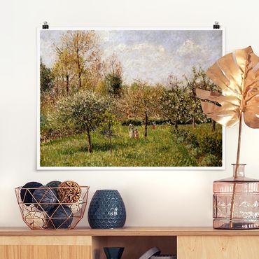 Poster - Camille Pissarro - Frühling in Eragny - Querformat 3:4
