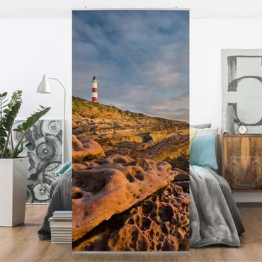 Raumteiler - Tarbat Ness Meer & Leuchtturm bei Sonnenuntergang 250x120cm