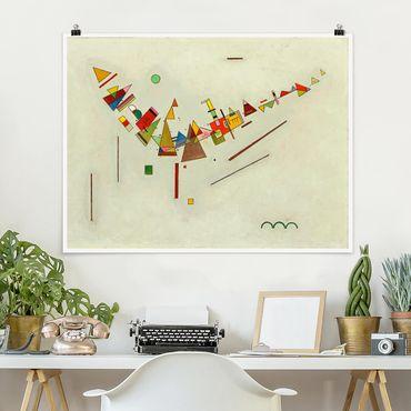 Poster - Wassily Kandinsky - Winkelschwung - Querformat 3:4