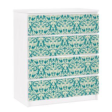 Möbelfolie für IKEA Malm Kommode - selbstklebende Folie The 12 Muses - Aoide