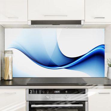 Spritzschutz Glas - Blaue Wandlung - Querformat - 2:1