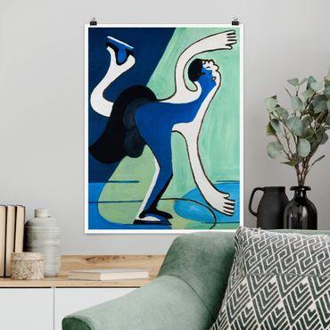 Poster - Ernst Ludwig Kirchner - Eisläuferin - Hochformat 3:4