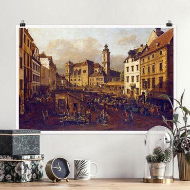 Poster - Bernardo Bellotto - Die Freyung in Wien - Querformat 2:3