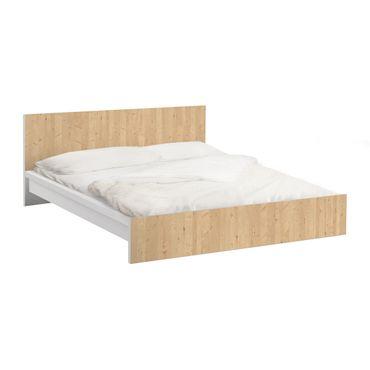 Möbelfolie für IKEA Malm Bett niedrig 180x200cm - Klebefolie Apfelbirke