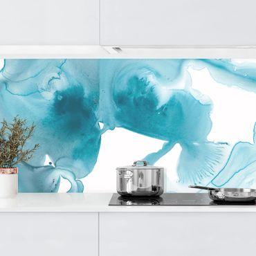Küchenrückwand - Aquamarin im Dunst II