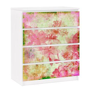 Möbelfolie für IKEA Malm Kommode - selbstklebende Folie Forgotten Beauties II