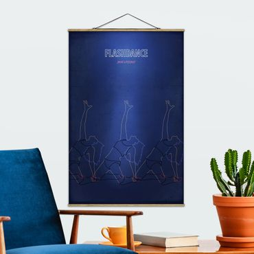 Stoffbild mit Posterleisten - Filmposter Flashdance - Hochformat 2:3