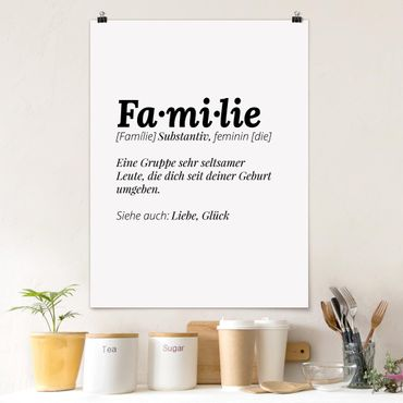 Poster - Die Definition von Familie - Hochformat 3:4
