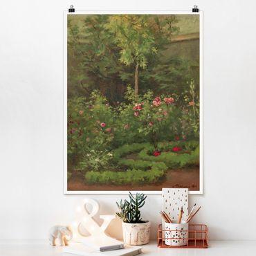 Poster - Camille Pissarro - Ein Rosengarten - Hochformat 3:4