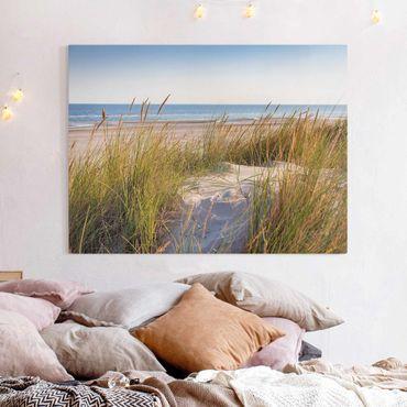 Leinwandbild - Stranddüne am Meer - Querformat 3:4