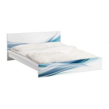 Möbelfolie für IKEA Malm Bett niedrig 140x200cm - Klebefolie Blue Dust
