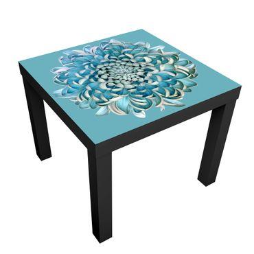 Beistelltisch - Blaue Chrysantheme