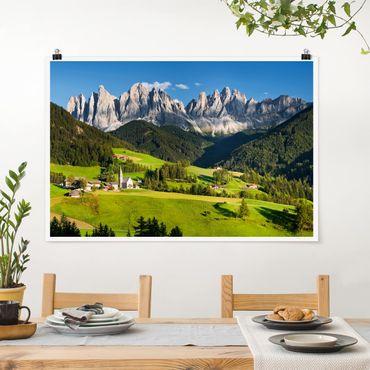 Poster - Geislerspitzen in Südtirol - Querformat 2:3