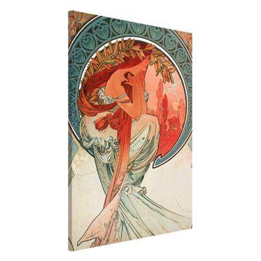 Magnettafel - Alfons Mucha - Vier Künste - Die Poesie - Memoboard Hochformat 3:2