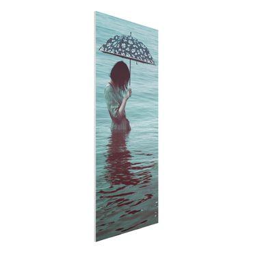 Forex Fine Art Print - Spaziergang im Wasser - Panel